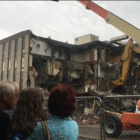 Old Citizens Bank, East Lansing being razed