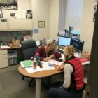 Mandy Chandler working with a student-athlete at the Clara Bell-Smith Center.