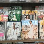 Covers of numerous non-sports magazines featuring female