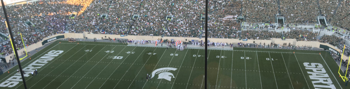 A few of Spartan Stadium from the press box.
