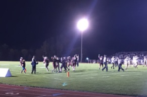 Okemos Chiefs Damian Hudson scores the final touchdown in the team's win over Holt, 21-7.