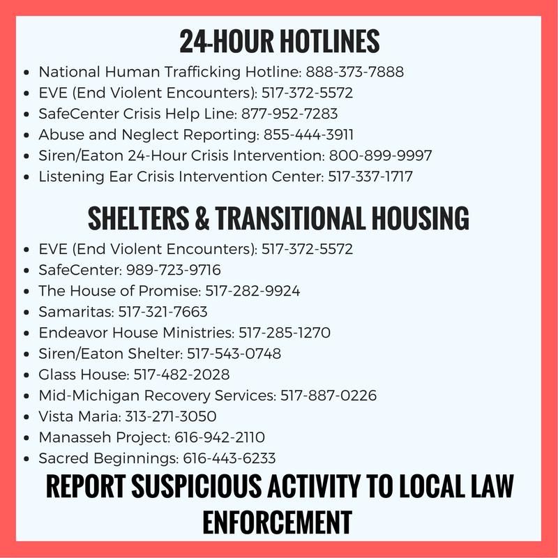 Human trafficking awareness increasing in mid-Michigan