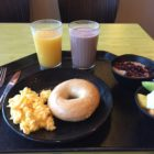 A basic breakfast for football players like Hillsdale's Drew Rubick. 240 pounds while maintaining his footwork and speed. Rubick is given unlimited access to the cafeteria and $20 a day for snacks on his quest to gain weight.