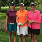 The Harding sisters, from left to right, Priscilla, Elizabeth and Caroline, all play golf. Priscilla and Caroline are members of the Michigan State women's golf team. Elizabeth is expected to join them next year.