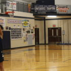 Aaliyah Nye working on her shot while at practice