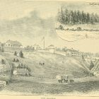"A depiction of Fort Mackinac from the 1890 book, ""A lake tour to picturesque Mackinac via the D & C."""