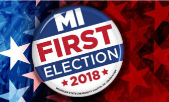 MI First Election 2018 logo