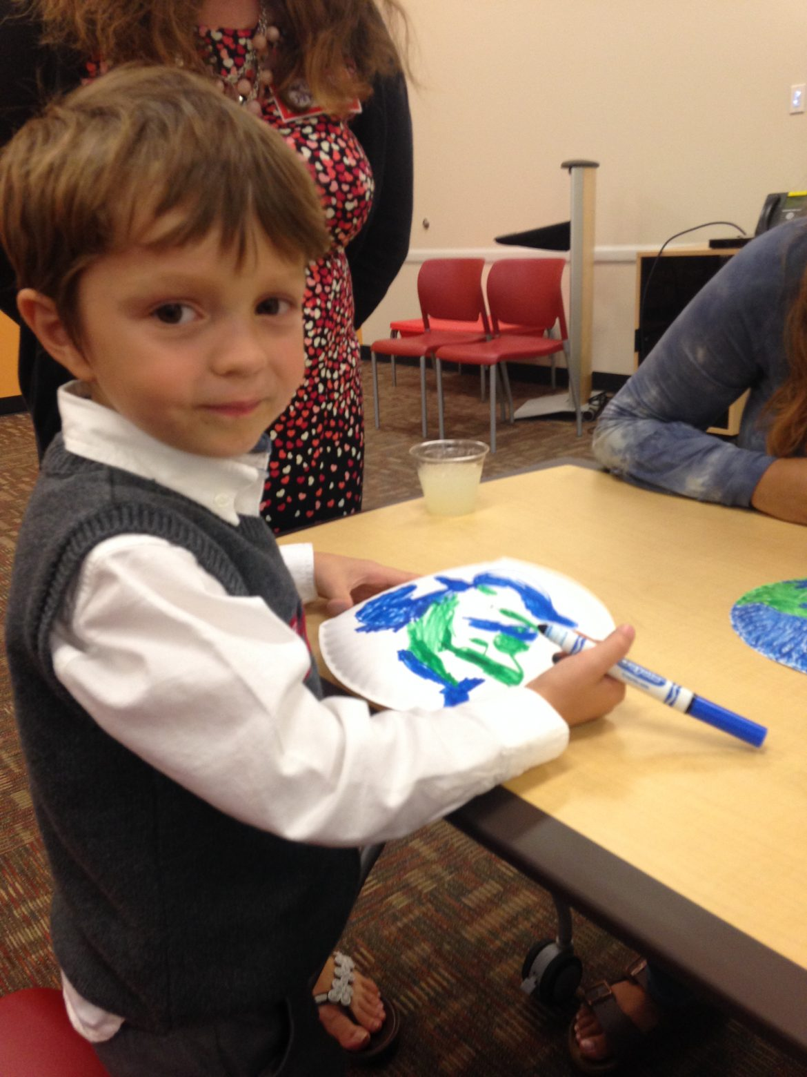 Boy, Coloring, Library
