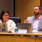 Holt school board Treasurer Ben Bakken speaks during the meeting Oct. 1 at the Holt Administration Building. Bakken expressed concern in the meeting over how post-employment benefits liabilities were to be paid.