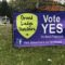 Advocates for two bond proposals in Grand Ledge have placed banners around the district.