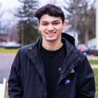 "Alex Passick poses for a photo after voting at Precinct 2 in Holt. ""I'm a millenial from 2000, I've heard that we have the biggest impact on the actual outcome, so I figured I would try to make an impact,"" he said. ""I wanted to come out here and show that I care about what happens in Michigan. The marjiuana (proposal) seems like it was something that should have been done years ago. It's a little ridiculous how the laws are enforced."""