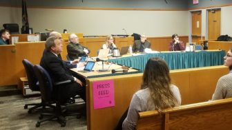 East Lansing City Council sits in session.