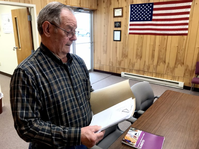 Richard Bates, clerk for Duplain Township, relies on his Michigan Township FOIA handbook to help him fulfill public records requests. He said Duplain receives on average two requests a year.