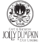 A logo for Jolly Pumpkin Artisan Ales' East Lansing location.