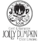 A logo for Jolly Pumpkin Artisan Ales' East Lansing location.