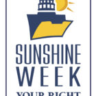 "Sunshine Week logo, ""Your Right to Know"""