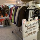 Ledge Craft Lane collects coats during its annual coat drive and then puts the coat rack outside at night for anyone to take.