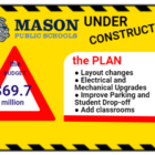 A graphic showing information about school renovations