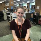 Emma Bunker is a clerk for the Lansing branch of the Capital Area District Library.