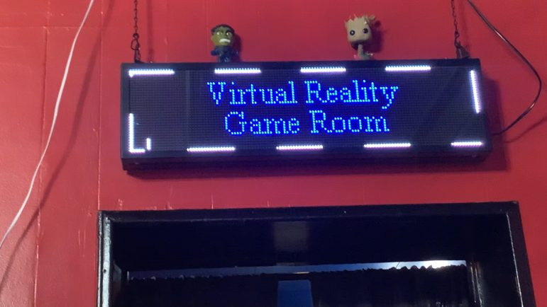 Virtual reality where you can spend some time before your movie, where you can shoot zombies, riding roller coasters and experience a cool escape room. You can spend as little as 15 minutes up to an hour playing various games.