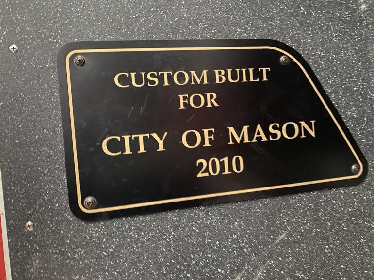 Custom built for the City of Mason 2010 Plaque