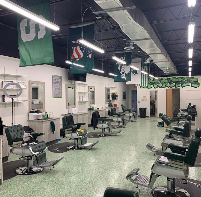 Empty barbershop after an executive order forced the closure of all shops for the time being.