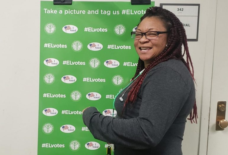LaRae Greggs, precinct captain for East Lansing's precinct 12 at the MSU Union, said she was happy MSU students are taking voting seriously. The Union is one of four voting locations on campus.