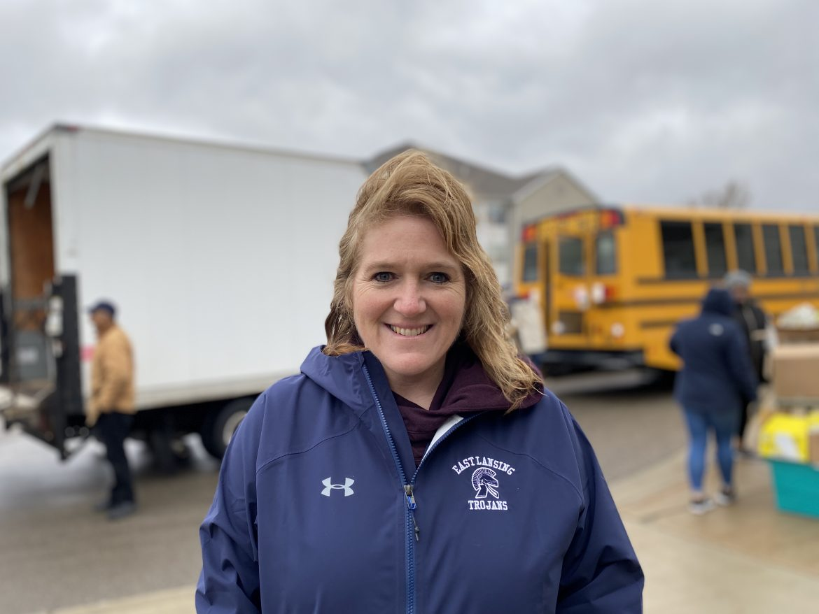Dori Leyko, superintendent of East Lansing Public School, said that the district has been distributing at least 3,000 meals weekly. Parents are expected to come to East Lansing High School to pick up meals via drive-through.