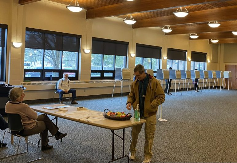 East Lansing's Precinct 16 at University United Methodist Church had hosted about 100 voters by midday Tuesday. Voting sites remain open until 8 p.m.