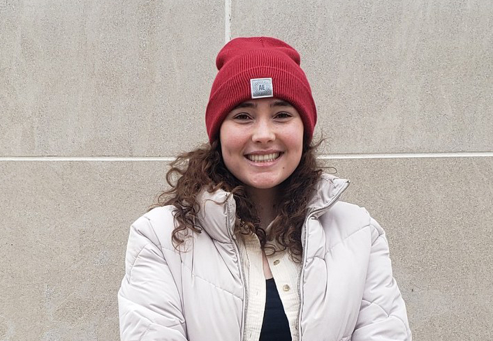 Shelby Stanton, a junior at MSU studying supply chain management said she's supporting Sen. Bernie Sanders over former Vice President Joe Biden in the Democratic presidential primary. On Tuesday, she was asking students if they are registered to vote outside of the MSU Union, one of several campus polling sites.