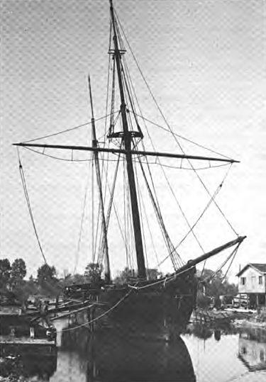 The wooden lumber schooner Alvin Clark.