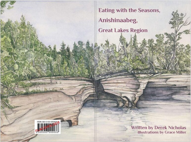 """Cover of cookbook """"Eating with the Seasons, Anishinaabeg, Great Lakes Region"""""""