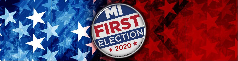 MI First Election 2020 button logo