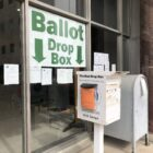 This is just one of 15 ballot drop boxes that Lansing City Clerk Chris Swope and his team set up Sept. 24. It can be found outside Lansing City Hall office at 124 W. Michigan Ave.