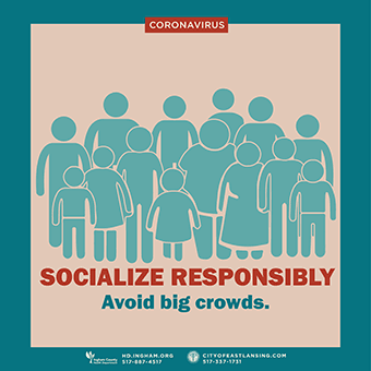 Poster advocates socializing responsibly