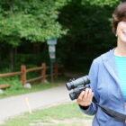 Anne Bretton enjoys birdwatching at Harris Nature Center in Okemos