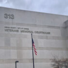 Veterans Memorial Courtroom, front of the building
