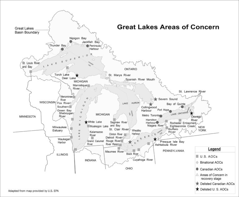Great Lakes Areas of Concern.