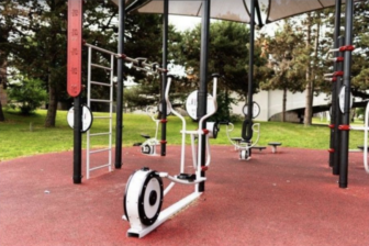 The FitLot outdoor fitness park, located on the Lansing River Trail near downtown Lansing, opened in 2020. Urban outdoor exercise opportunities are growing in number.