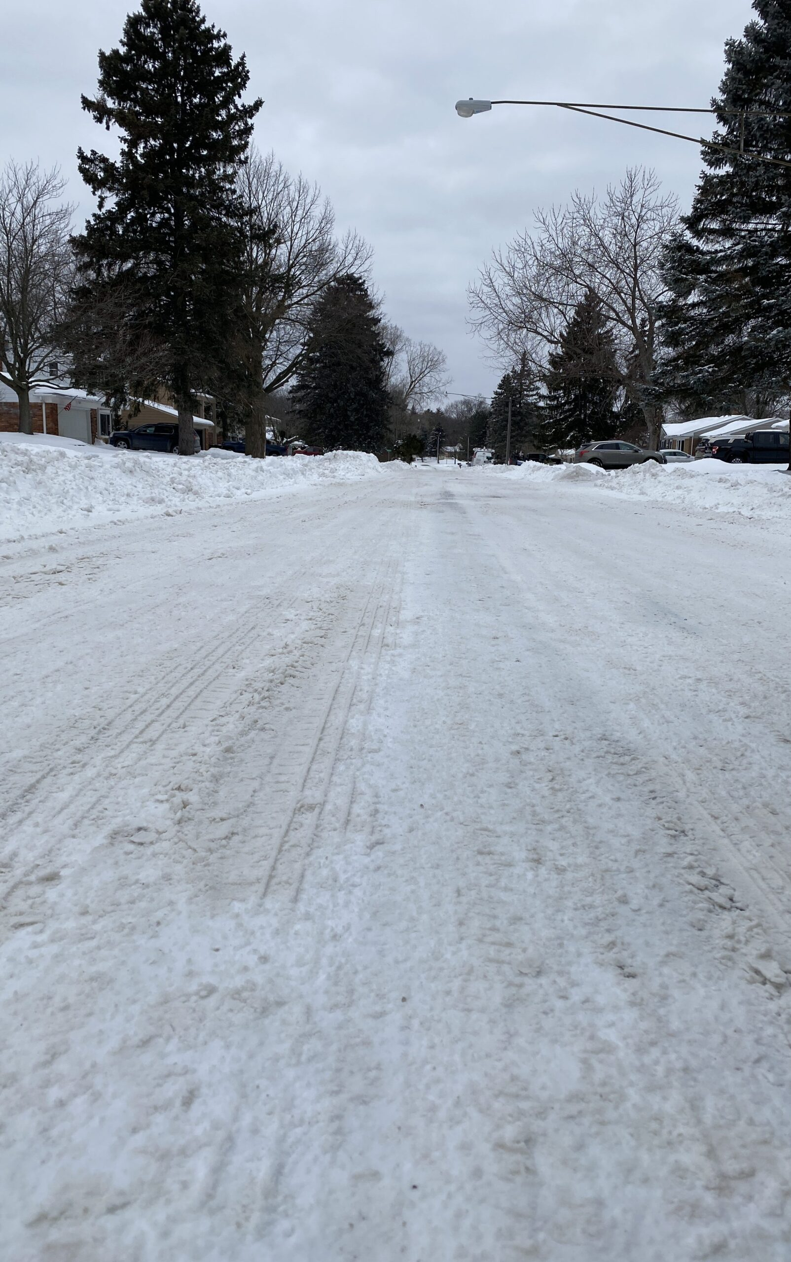 Hours after the snowstorm, Waterford back roads are covered in snow. RCOC worked hard during the snowstorm to get many roads plowed and cleared.