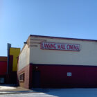 a photo of the outside of the vacant Lansing Mall Cinema