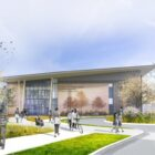 Green landscaping will prevent polluted runoff from Lake Superior State University's Richard and Theresa Barch Center for Freshwater Research and Education soon to be built along the St. Marys River.