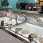 Ice cream service area at The Daily Scoop