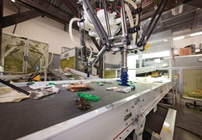 The recently installed recycling robots at the Emmet County Materials Recovery Facility in Harbor Springs increased efficiency, according to county officials.