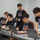 East Kentwood High School students compete in the first round of the 2019 StateChamps! Esports Tournament at Lawrence Tech University.