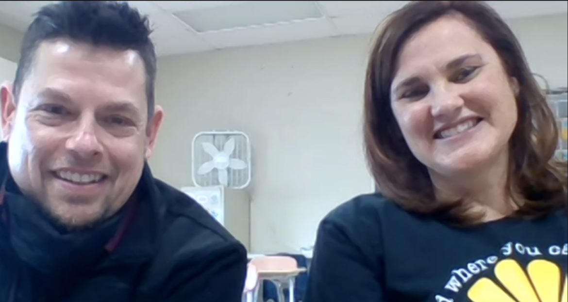 Picture of teachers Jason Perrin and Lesley Stauffer of the East China School District