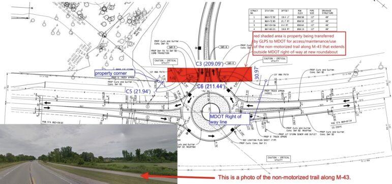 Grand Ledge, MDOT, Roundabout, M-43