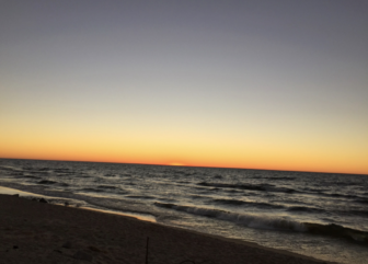 Manistee Beach in 2014. A team of Michigan State University researchers is working with volunteers in coastal communities to track erosion in the state.