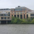 The Grand Rapids Public Museum on the west bank of the Grand River will reconfigure its waterfront to help restore the rapids.