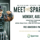 """Flyer for 18th annual """"Meet the spartans"""" event that was Monday, Aug. 23, 2012"""